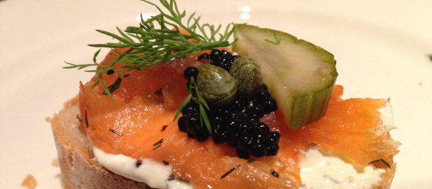 Cured Salmon and Pickles